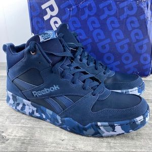 Reebok Royal Blue Camo Basketball Shoes Size 9.5